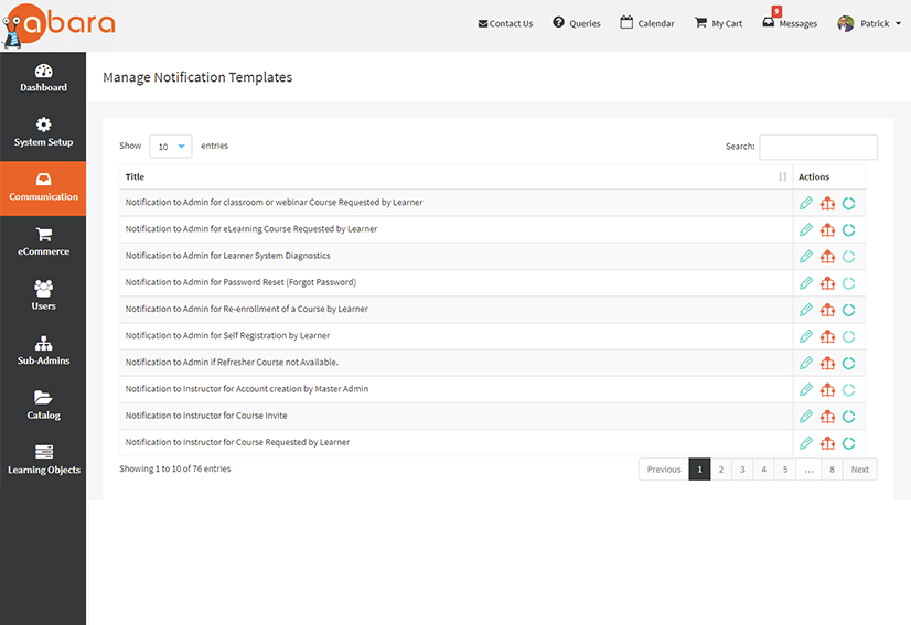 LMS WITH EMAIL NOTIFICATION FEATURES